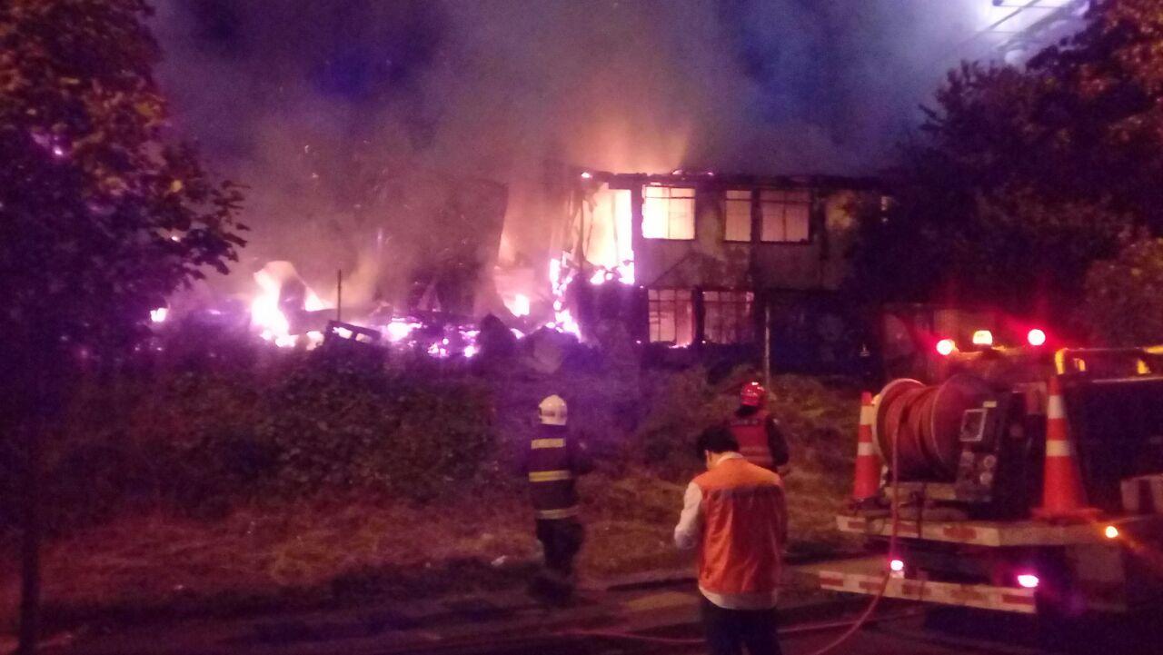 Incendio en Pedro de Valdivia