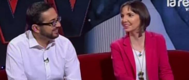 Pablo y Pilar en Mentiras Verdaderas en septiembre de 2015