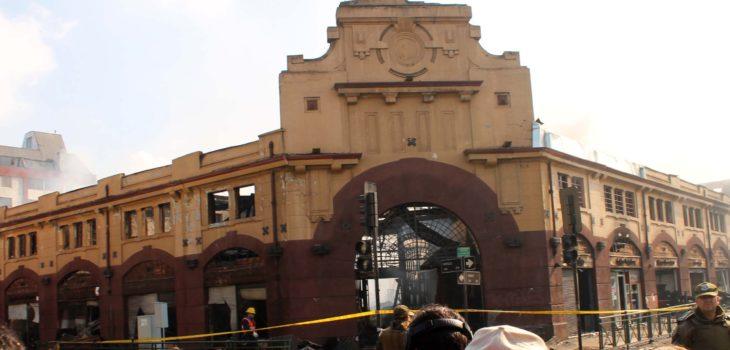 Mercado municipal de Temuco tras incendio | ARCHIVO | Agencia UNO