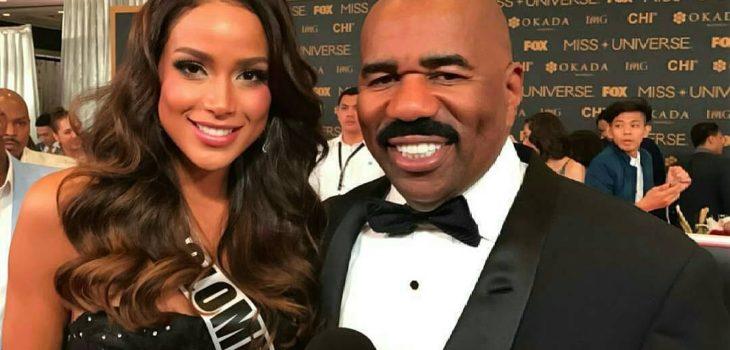 Steve Harvey y Miss Colombia | Twitter
