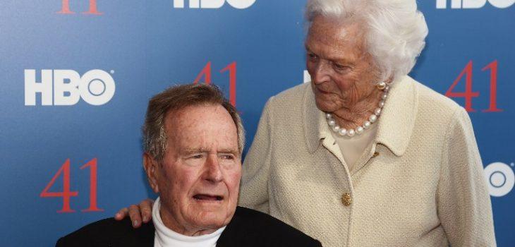 George H.W. Bush y su esposa Barbara   ARCHIVO   Agence France-Presse