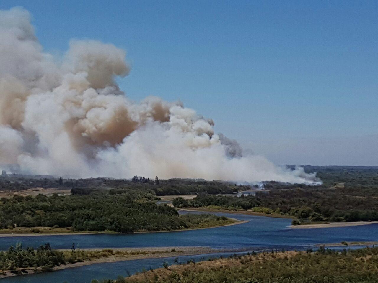 Incendio en Negrete