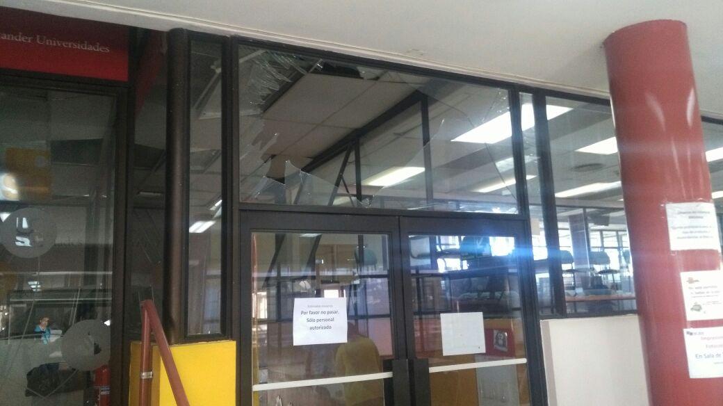 daños al interior del campus