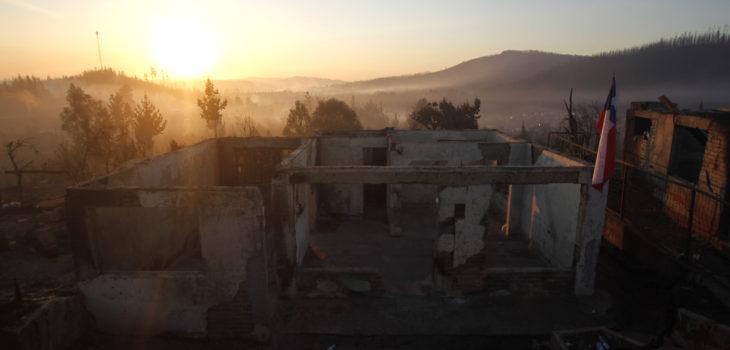 Santa Olga tras el incendio | Agencia UNO