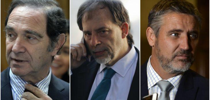 Hernán Larraín, Guido Girardi y Fulvio Rossi | Archivo | Agencia UNO