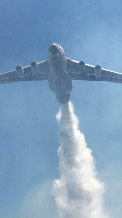 Ilyushin Il-76 en San Antonio | Conaf