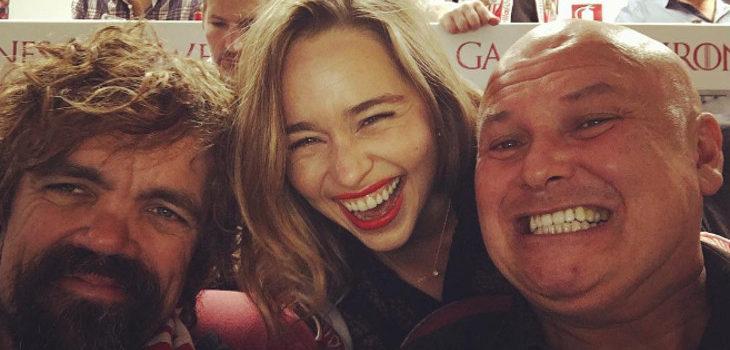 """Emilia Clarke junto a co-estrellas de """"Game of Thrones""""   Instagram"""