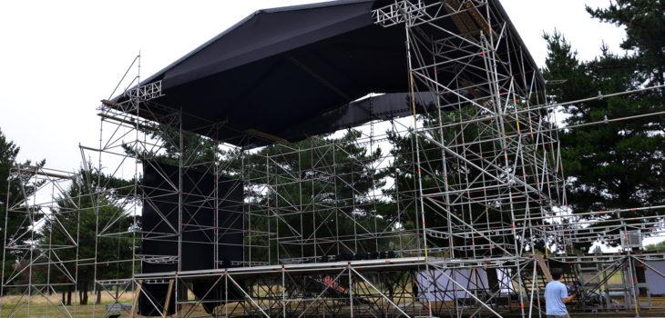 Escenario del show del aniversario 136º de Temuco.