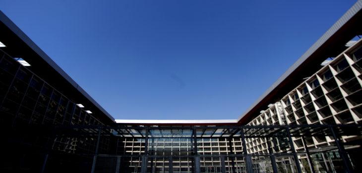 Fachada del Centro de Justicia. FOTO:JUAN GONZALEZ/ AGENCIAUNO
