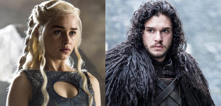 Daenerys Targaryen (izquierda), Jon Snow (derecha) | Game of Thrones