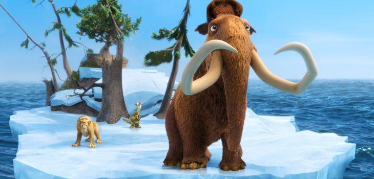 """Mamut Manny (derecha), personaje de la saga de películas """"La era del hielo"""""""