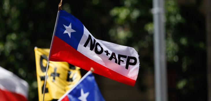 No+AFP de Valdivia protestó ante los nulos avances en materia previsional