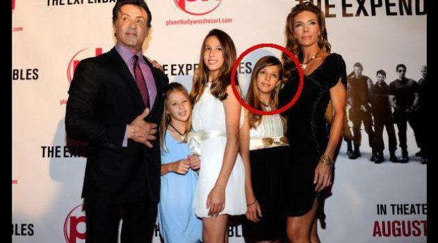 Stallone y su familia