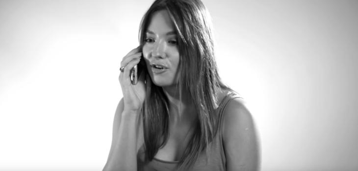 Raquel Calderón realizando su 'última llamada'