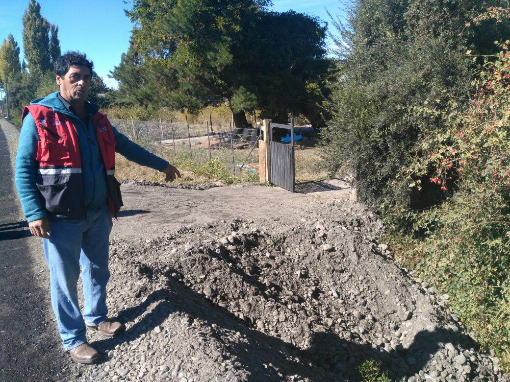 Corte de camino en Laja | Constanza Reyes (RBB)