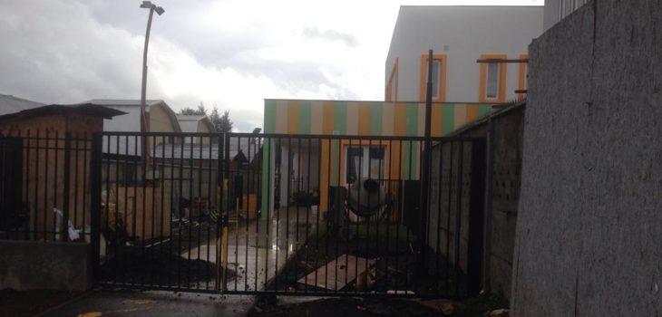 Jardín en construcción por demandantes | Carlos Agurto (RBB)