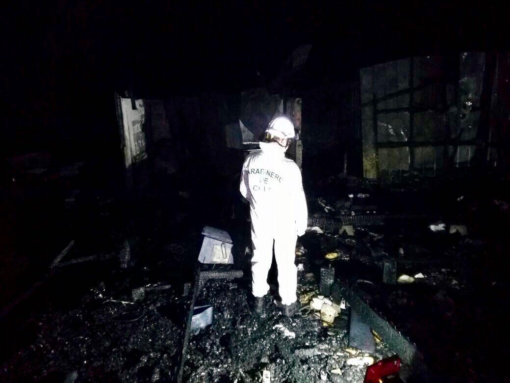Incendio en la madrugada en Puerto Montt.