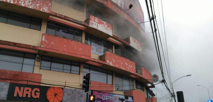 Incendio en edificio de Temuco