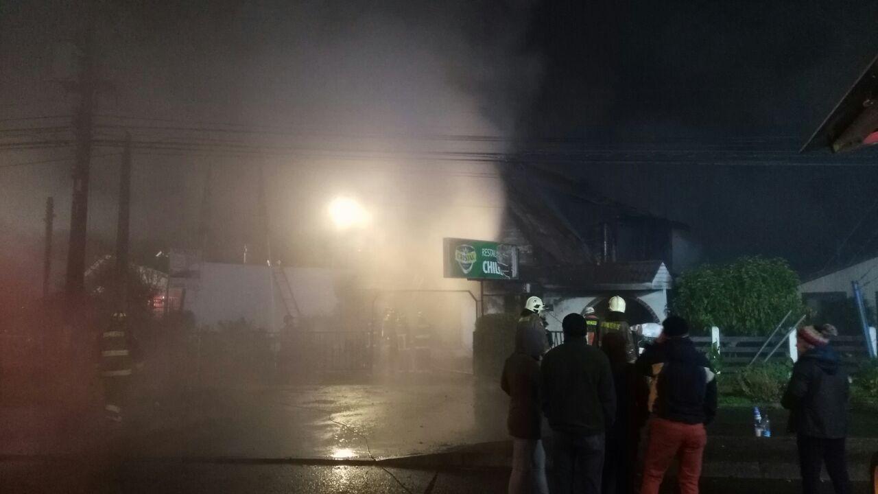 Incendio Restaurant Chiloé | Carlos Martínez (RBB)