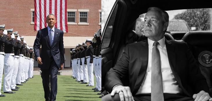 Barack Obama (izquierda) y Frank Underwood/Kevin Spacey (derecha)   Pete Souza   Instagram