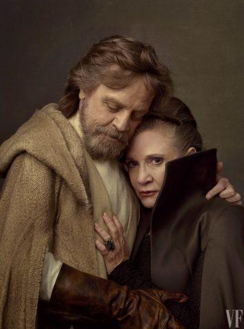 Luke y Leia (Mark Hamill y Carrie Fisher) | Vanity Fair | www.vanityfair.com