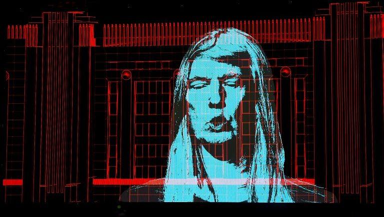 Ilustración de Donald Trump en uno de los conciertos recientes de Roger Waters | Kevin Winter | AFP