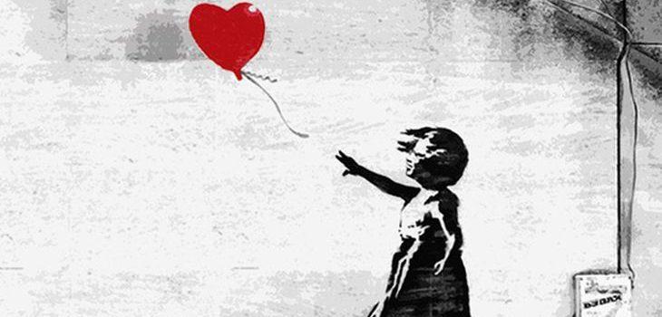 "La obra ""Balloon Girl"" de Banksy | stencilrevolution.com"