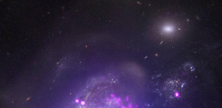 Dos galaxias fusionándose en el sistema Arp 299   NASA
