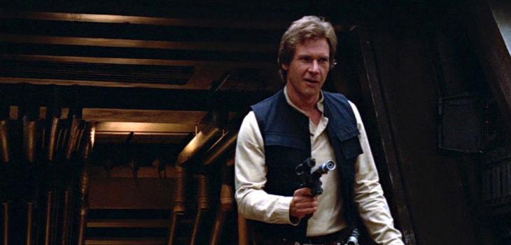 Harrison Forn como Han Solo en la trilogía original de Star Wars