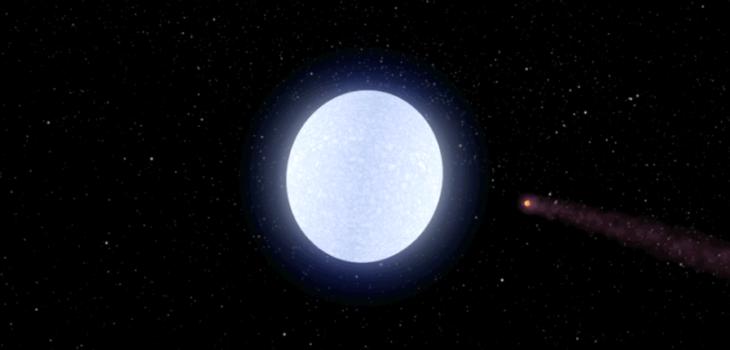 Ilustración de KELT-9b orbitando su estrella KELT-9   NASA