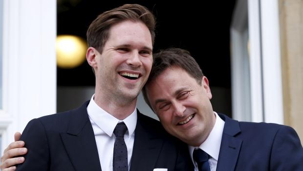 Xavier Bettel y su esposo, Gauthier Destenay