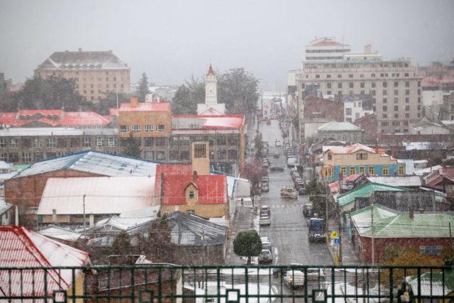 Punta Arenas nevado, región de Magallanes | Joel Eestay | Agencia UNO