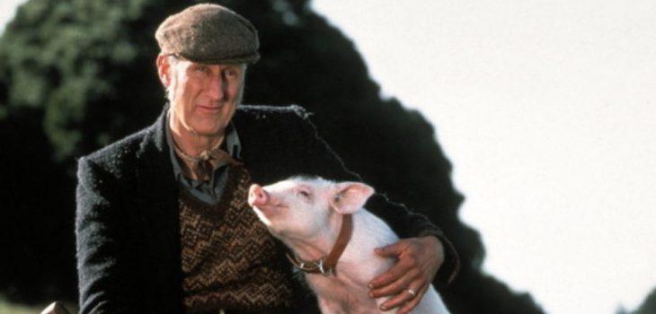 """James Cromwell en """"Babe el cerdito valiente"""" (1995)"""