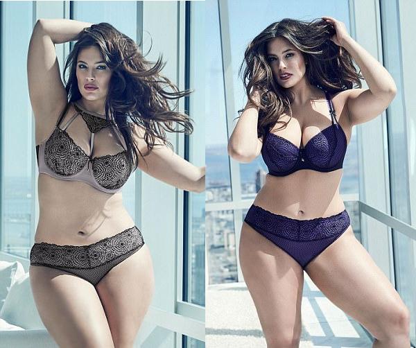Modelo Xl Ashley Graham Se Luce En Sensual Campana De Ropa Interior De Talla Grande Mujer Biobiochile