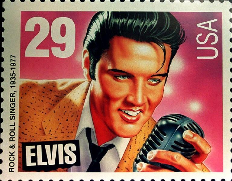 Estampilla conmemorativa de 1992 en honor a Elvis | Agencia AFP
