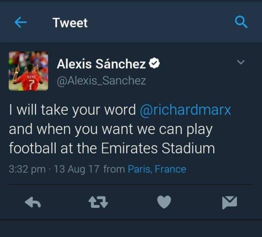 Alexis Sánchez I Twitter