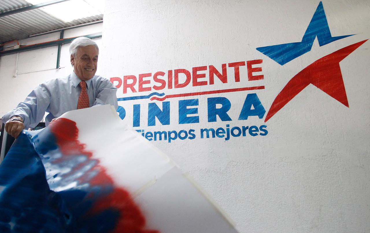 Piñera y su stencil