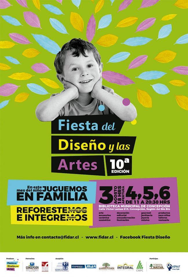 El afiche de la Feria del Diseño y las Artes.