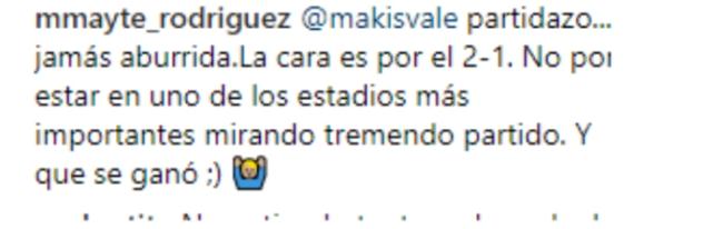 El comentario de Mayte.