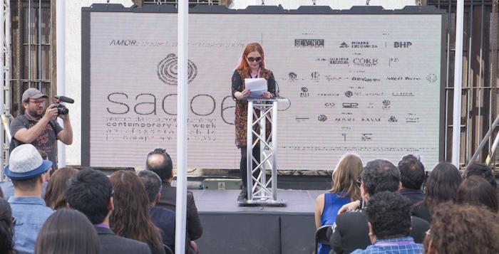 Dagmara Wyskiel en Inauguración SACO6