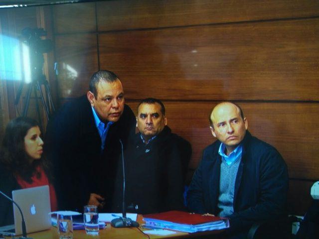 Formalizados en caso Endesa (de izquierda a derecha):  David Poblete, Mario Enero, Pablo Arnes | Captura Poder Judicial