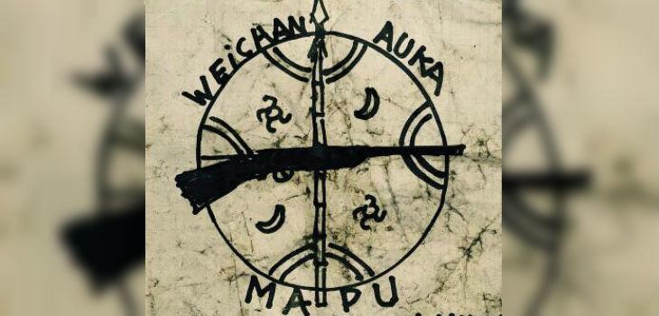 Panfleto encontrado en la quema de camiones I Weichan Auka Mapu