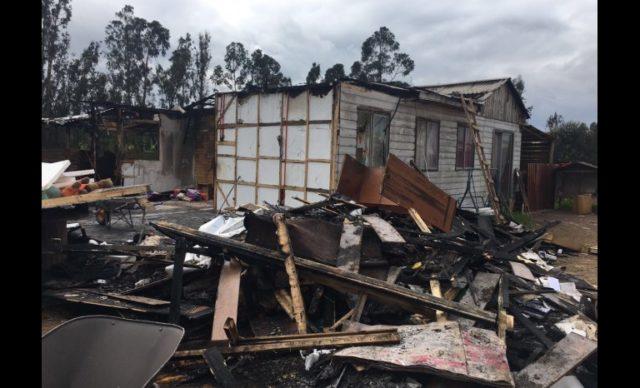 Diario El Día | Foto de la casa tras el incendio