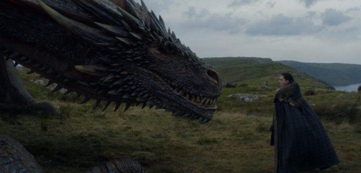 Drogon (izquierda) y Jon Snow (derecha) | Game of Thrones 7×05