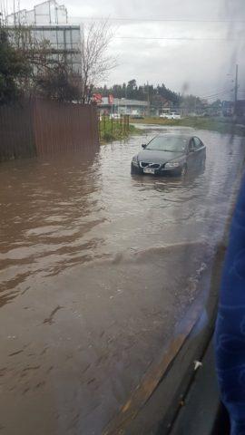 Inundación en Lomas de San Andrés, Concepción  | Twitter | @Nathalieacuna
