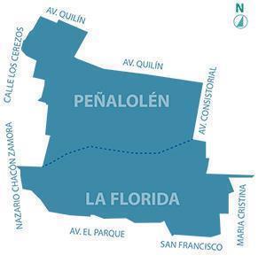 Mapa de corte de agua en La Florida y Peñalolén