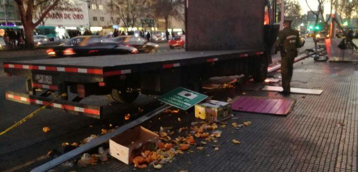 Camión que protagonizó accidente | Freddy Retamal | RBB