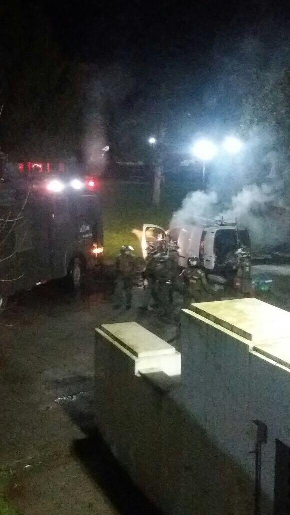 Vehículo quemado en la UdeC | Cedida a RBB