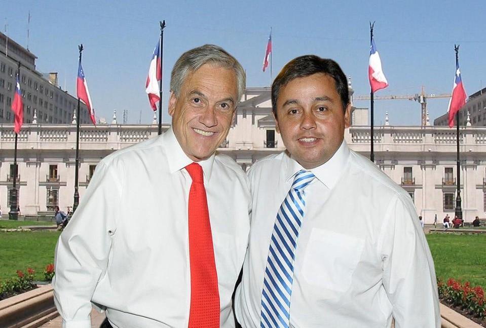 Eduardo Durán con Piñera en 2014 | Facebook