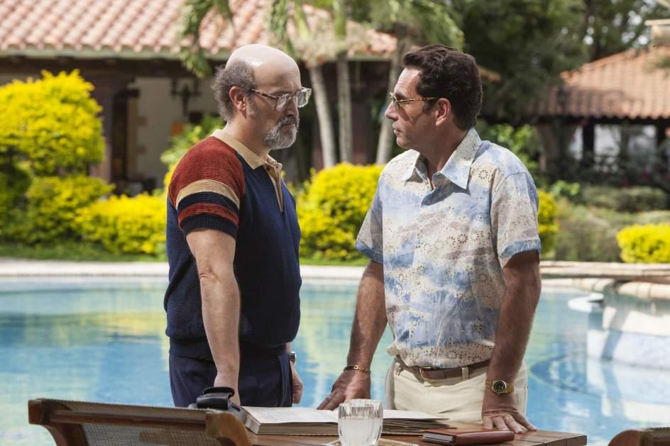 Javier Cámara y Francisco Denis como Palomari y Rodríguez Orejuela en Narcos | Netflix